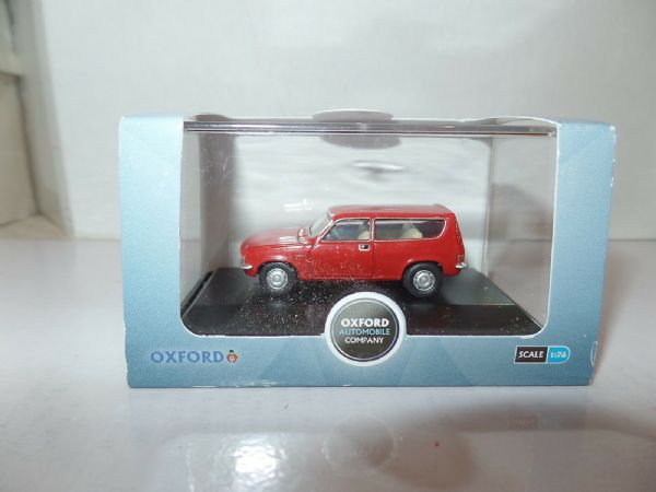 Oxford 76ALL002 ALL002 1/76 OO Scal BLMC Austin Allegro 1300 Estate Flamenco Red
